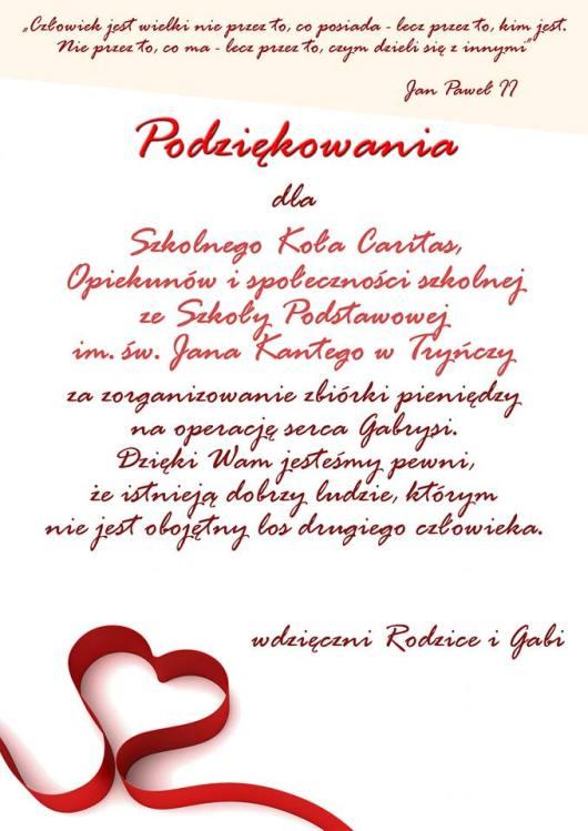 00769731490b4e Szkoła Podstawowa im. św. Jana Kantego w Tryńczy